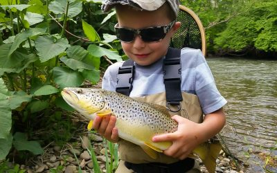 Aiden's First Brown Trout