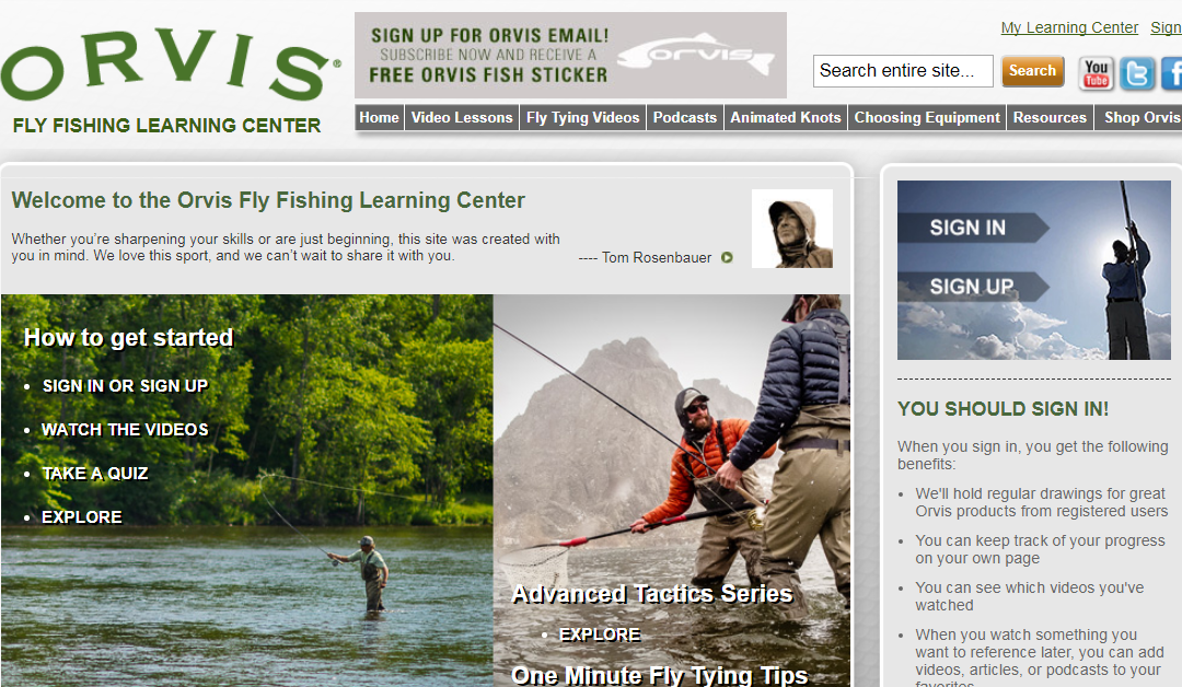 Streamside | The Orvis Fly Fishing Learning Center Online